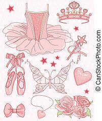 Prinzessin Ballerina bereit