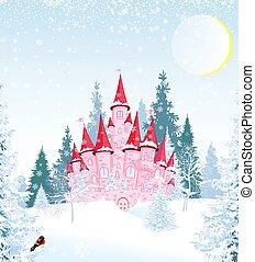 prinzessin, hofburg, winter, wald