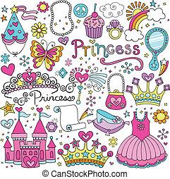 Prinzessin Tiara Feenvektor Set
