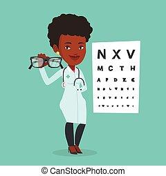 professionell, eyeglasses., augenarzt, besitz
