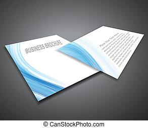 Professionelle Geschäftsbroschüren abschaffen, Präsentation Vector Illustration