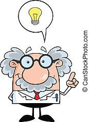 Professor mit einer guten Idee