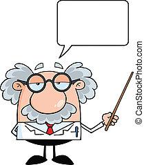 Professor mit Sprachblase