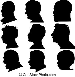 Profile Gesichtsvektor