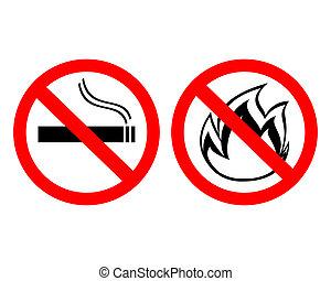 """Prohibitionszeichen """"Kein Rauchen"""""""