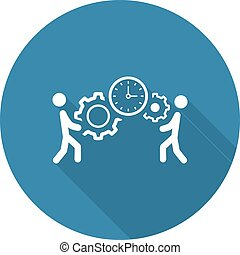 Projektmanagement Icon. Flat Design.