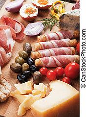Prosciutto di Parma und andere italienische Küche.