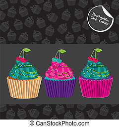 Psychedelic Cupcakes Set