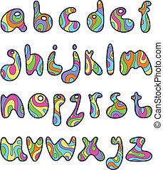 Psychedelische kleine Briefe
