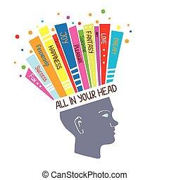 Psychologisches Konzept mit optimistischen Gefühlen und positiver Denkanschauung.