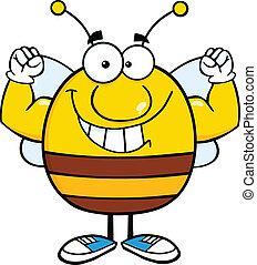 Pudgy Bee zeigt Muskelarme