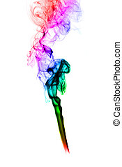 Puff der abstrakten Rauchkurven.