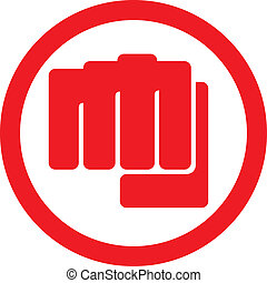 punching), symbol, (human, faust, hand