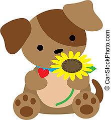 Puppy mit Herz