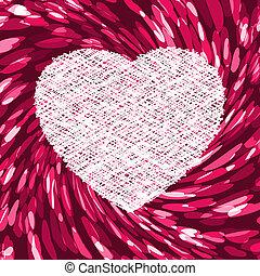 Purple Bild in Form von Herz. EPS 8