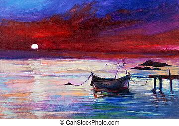 Purple Sonnenuntergang