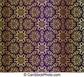 Purple und Gold nahtlos arabesque