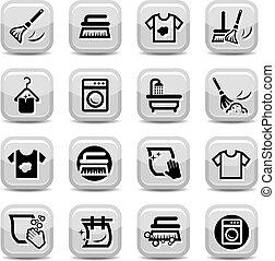 Putz- und Waschen-Icons eingestellt