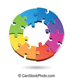 puzzel, stichsaege, kreis