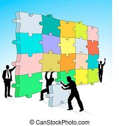 Puzzle dreidimensional