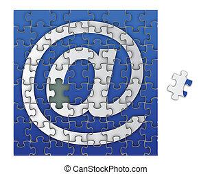 Puzzle E-Mail-Zeichen / Vektor