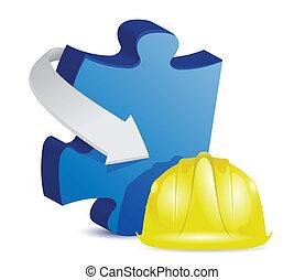 Puzzle im Bau