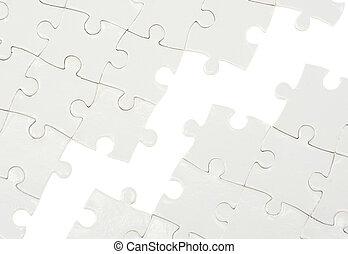 Puzzle mit fehlendem Stück.