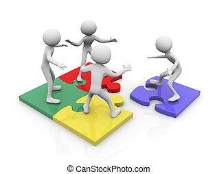 Puzzle-Team-Arbeit