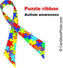 Puzzleband. Autismus-Symbol.