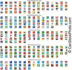 quadrat, gerundet, heiligenbilder, nationales kennzeichen, vektor