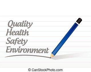 Qualität, Gesundheit, Sicherheit.