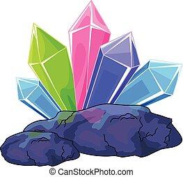 Quarzkristall.