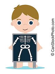 Röntgenknochen, Junge