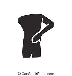 Rückenschmerzen-Ikone.