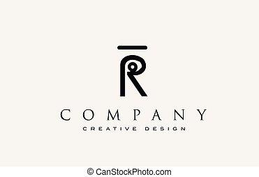 r, alphabet, ikone, brief, logo., identity., korporativ, beschriftung, professionell, elegant, schablone, abstraktes design, weinlese