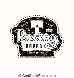 Racing Emblem für T-Shirts