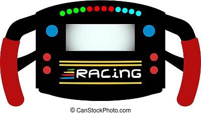 Rad Formel Sportwagen.