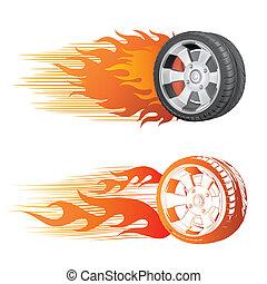 Rad und Flamme