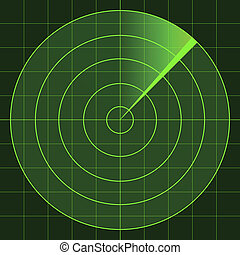 Radarschirm.