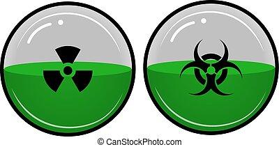 Radioaktives Material.