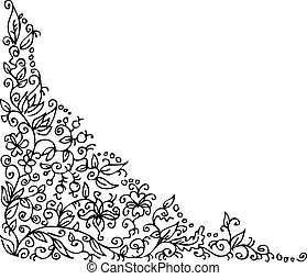 Raffinierte Blumen-Vignette