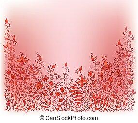Raffinierte Blumen-Vignette VIII IC