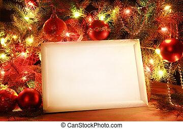 rahmen, lichter, weihnachten