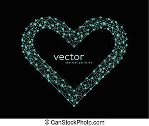 rahmen, vektor, herz, abbildung