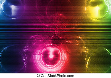 Rainbow Business System abstrakter Hintergrund.