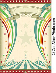 Rainbow Zirkus Vintage-Poster