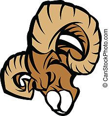 Ram Mascot Grafik illustriert