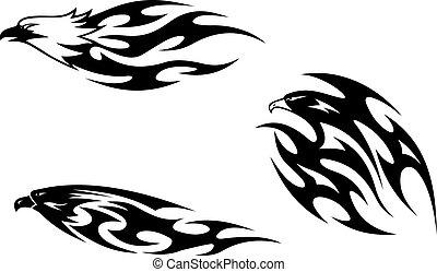 Raubvögel-Tattoos