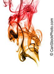 Rauchkrümmung auf Weiß abstellen