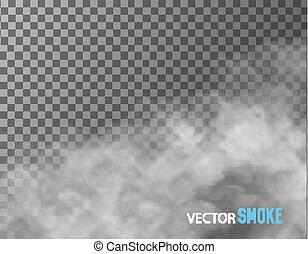 Rauchvektor auf transparentem Hintergrund.